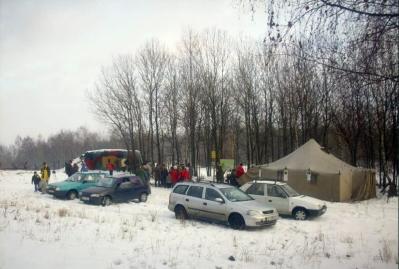 Pohled na silvestrovské ležení v roce 2009