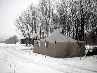 Skautský stan na Kočičáku v roce 2009